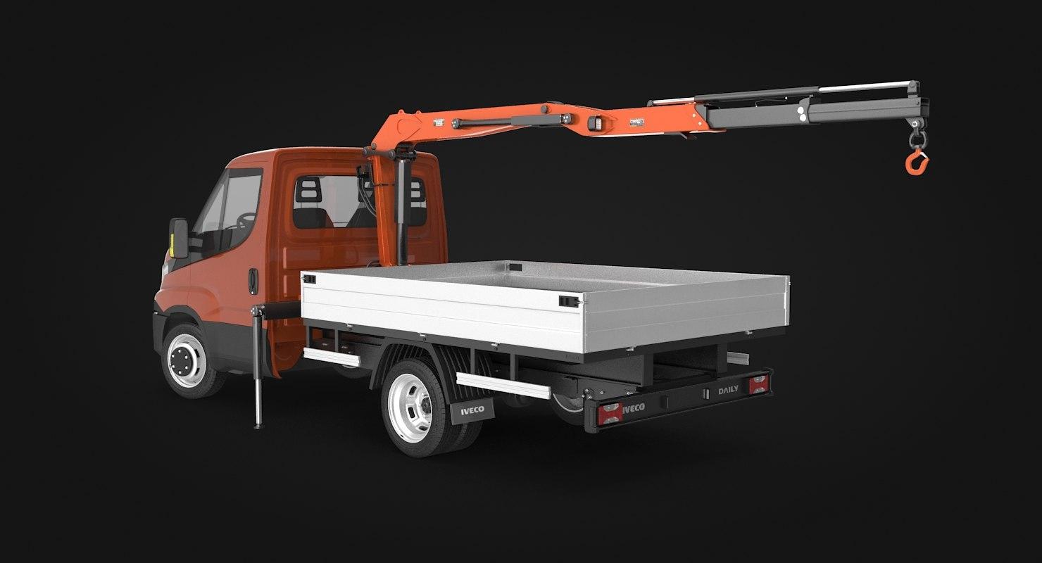 3D iveco crane truck
