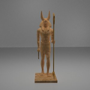 3D statue egyption model