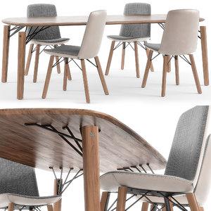 rolf benz 616 chair 3D model