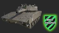 merkava4 tank 3D model