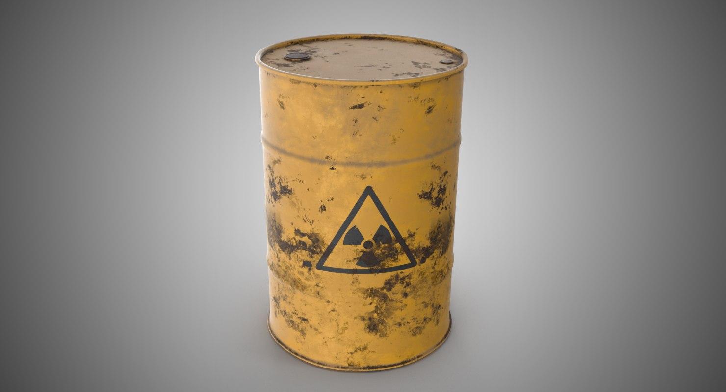 radioactive barrel 3D