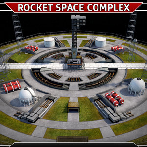 3D launch rocket complex