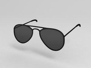 3D vintage sunglasses
