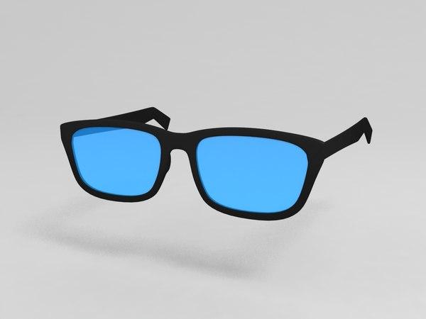 3D model reading glasses