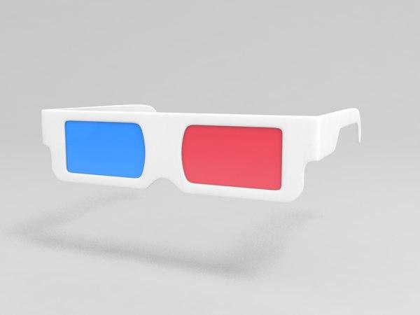 3D glasses model