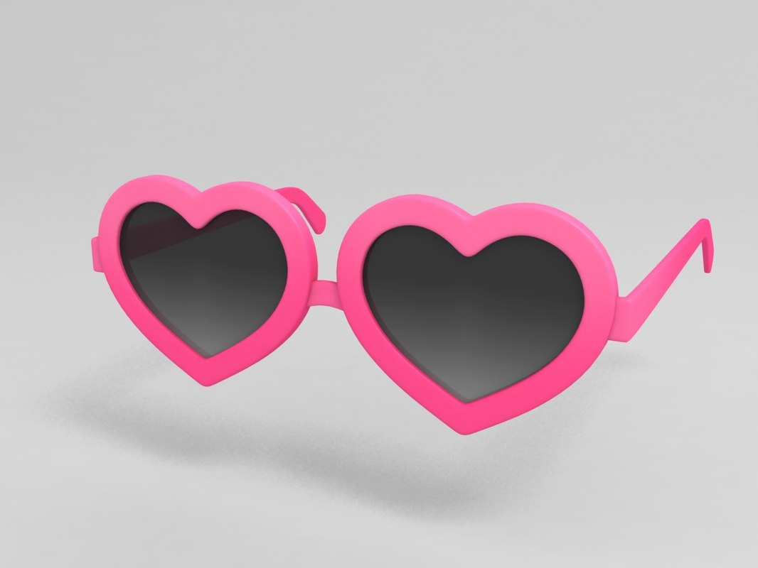 3D heart sunglasses