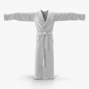 3d bathrobe t-pose model