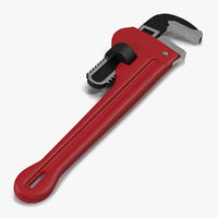 pipe wrench 10 inch 3d model