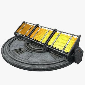 3D sci-fi solar panel