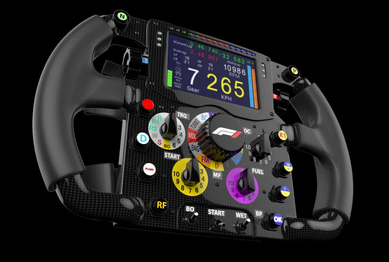 f1 steering wheel 3D model