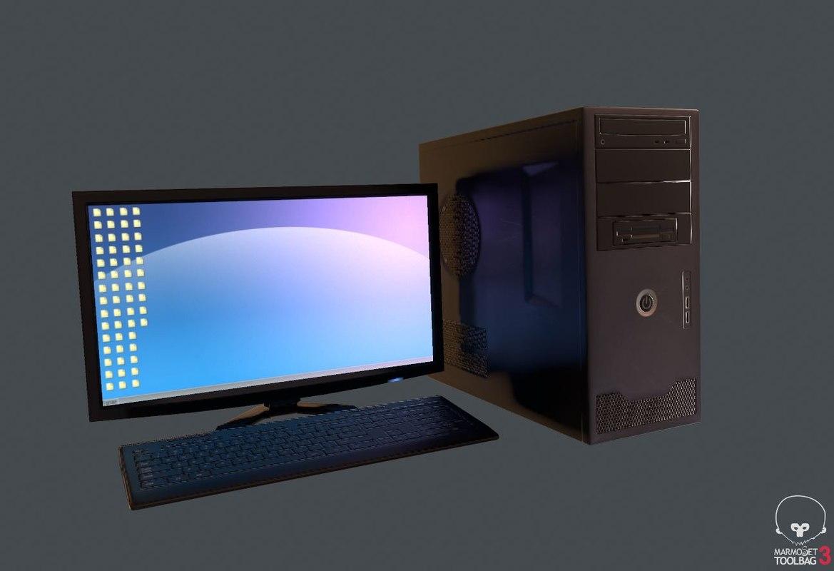 pc monitor 3D model