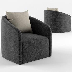 3D rotunda armchair model