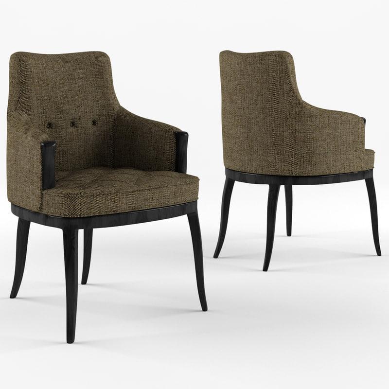 elegant desk chair 3D model