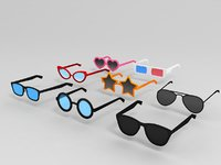 glasses cartoon sunglasses model