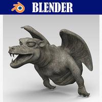 3D gargoyle model