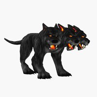 Cartoon Cerberus with Animations