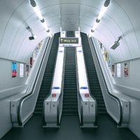 Underground Tube Escalator