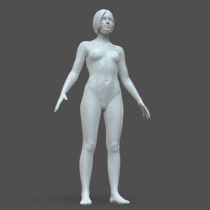 casual genital details 3D model