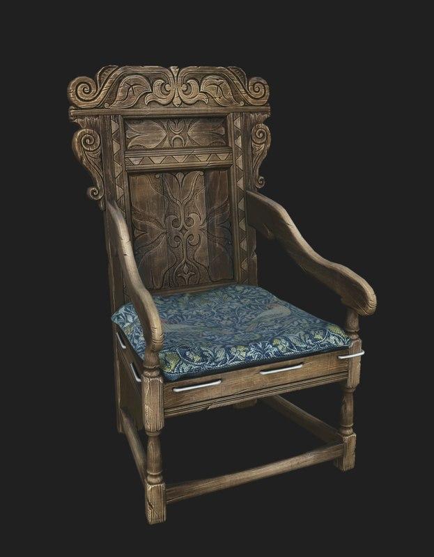 3D wainscott chair model