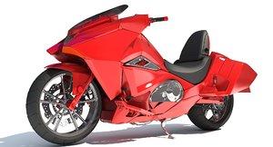generic sport motorcycle 3D model