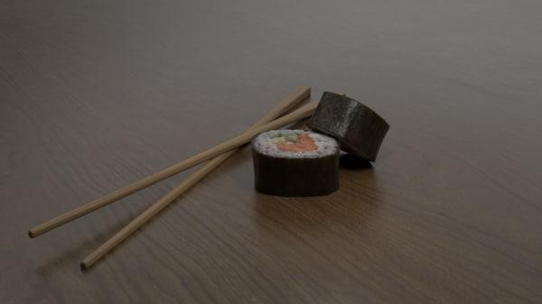 3D rolls sushi