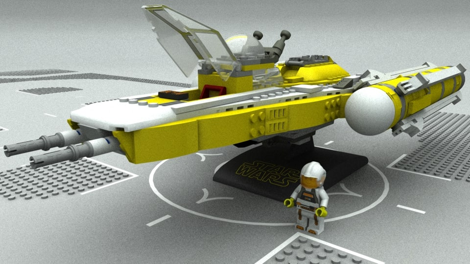 lego sw y fighter 3D model