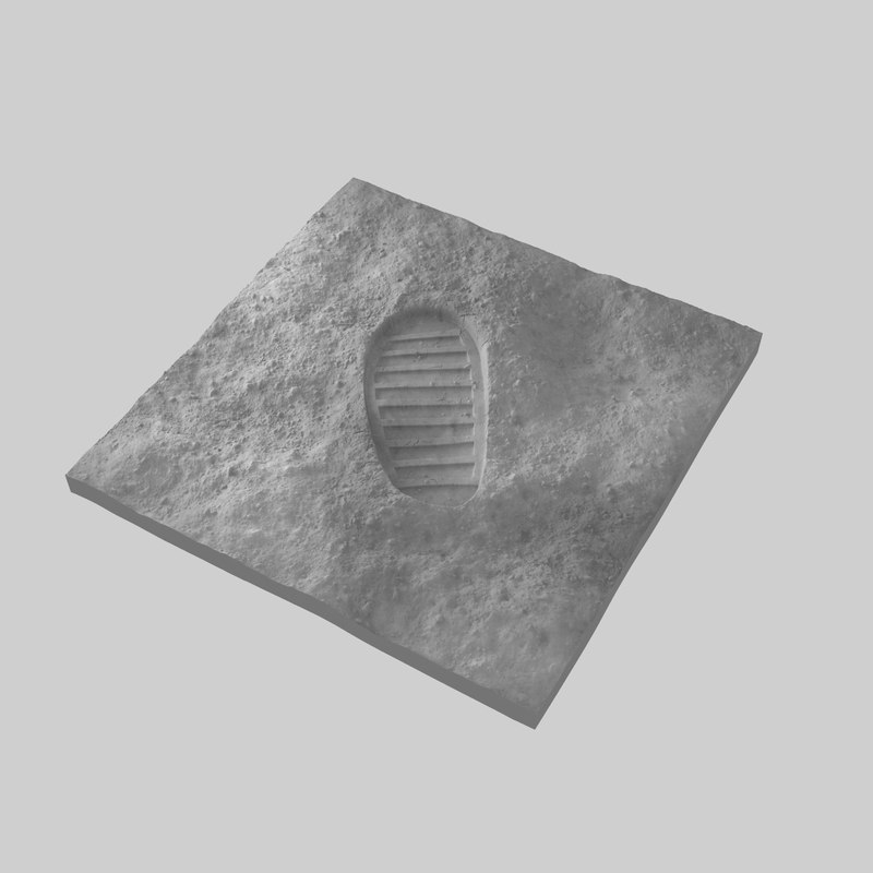 moon boot bootprint 3D model