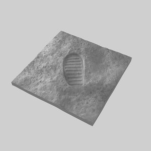 moon boot bootprint 3D model