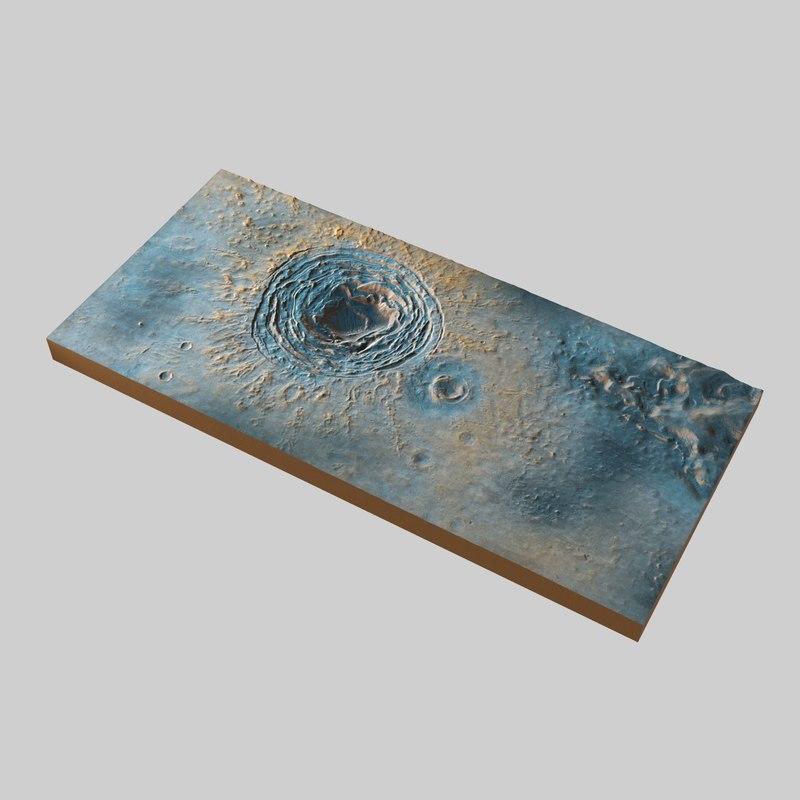 3D mars surface model
