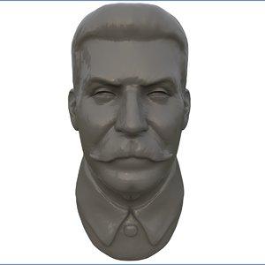 stalin bust statue 3D