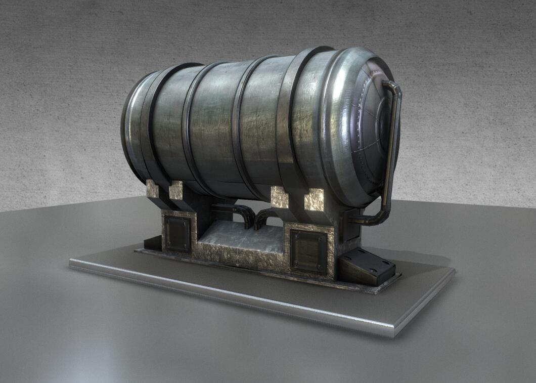 3D metal water tank household