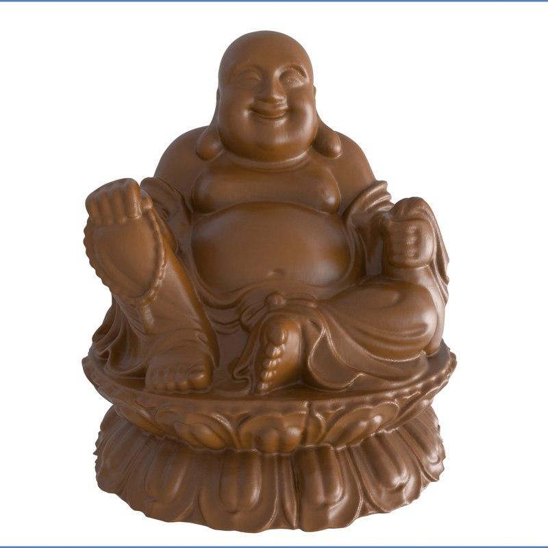 happy buddha ready print 3D