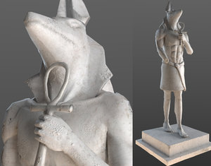 anubissculpture egypt museum 3D model