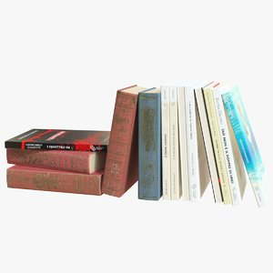 3D cr01 sofa books 02