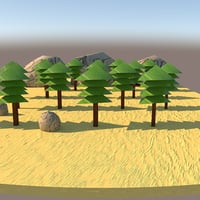 Forest (Lowpoly Modeling)