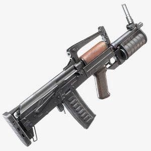 3D model modular assault rifle