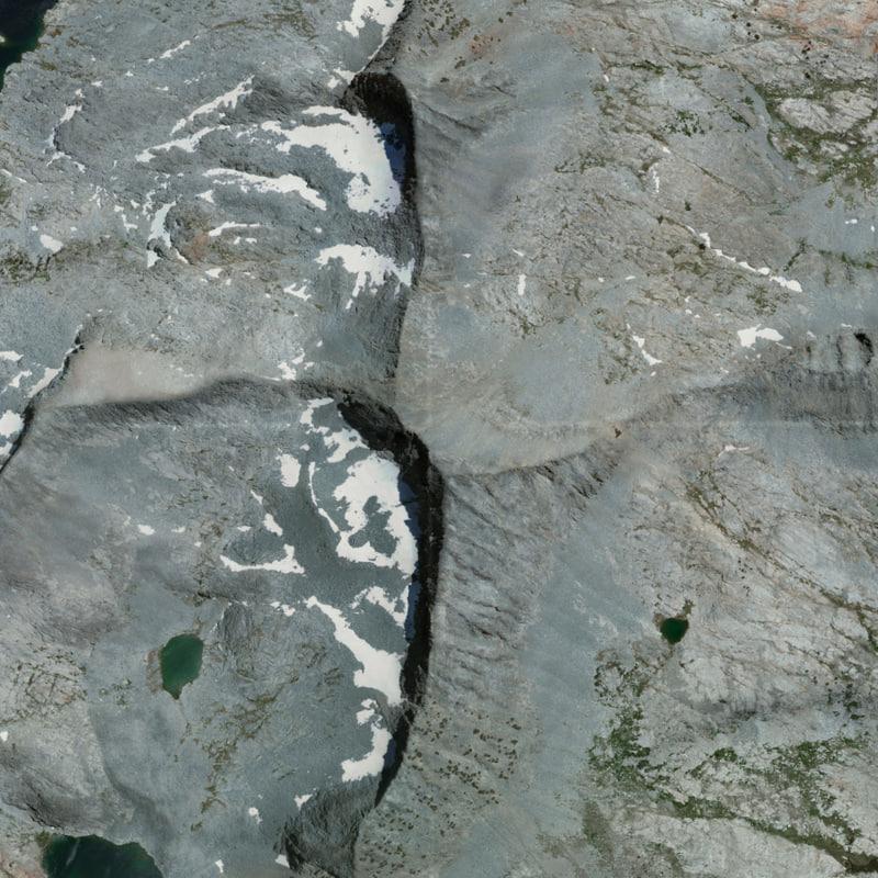 3D mesh merced peak yosemite
