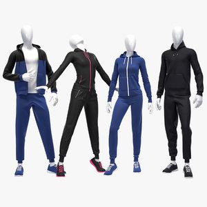 set sport suits 3D model