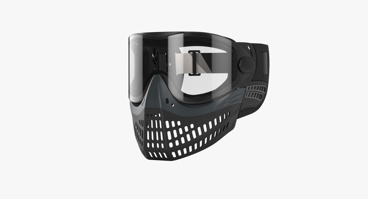 paintball mask 3D model