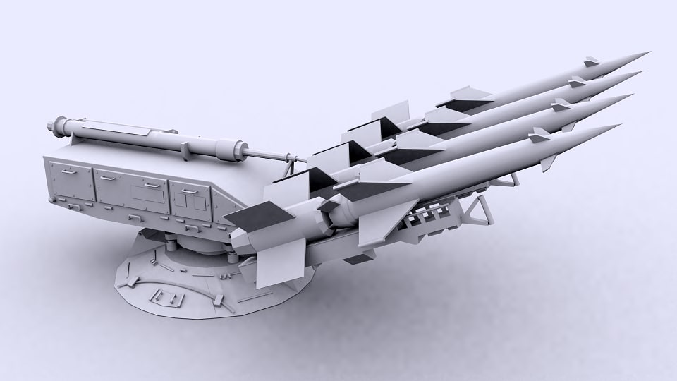 3d model of sa-3 goa artillery