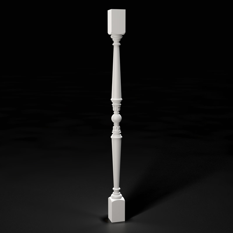 high-quality baluster 3D model