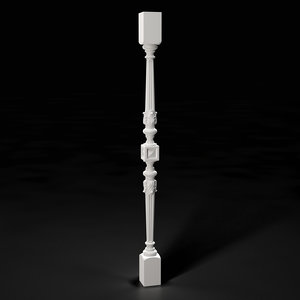 3D model high-quality baluster