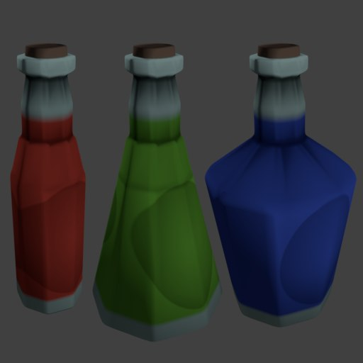 47 bottle flask potion model