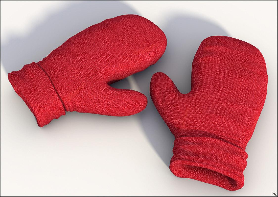 3D winter gloves