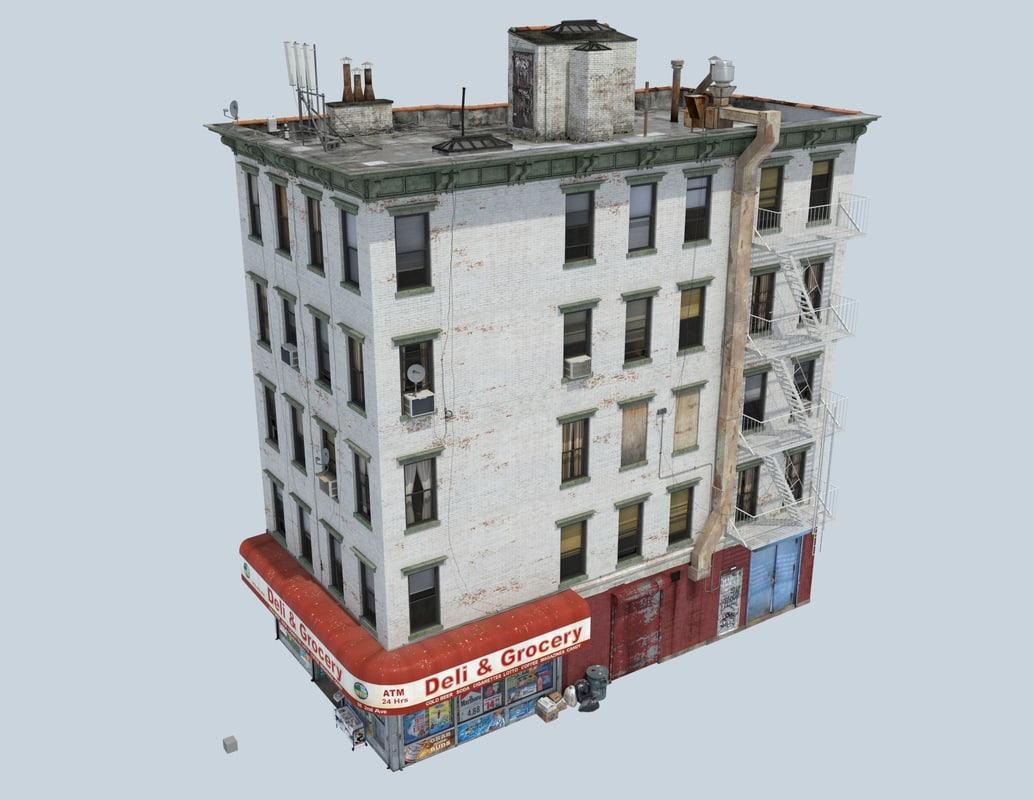 3d deli building architectural model