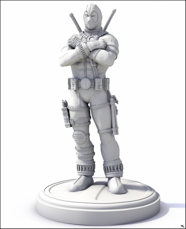 print ready deadpool 3D model
