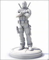 print ready deadpool 3D model