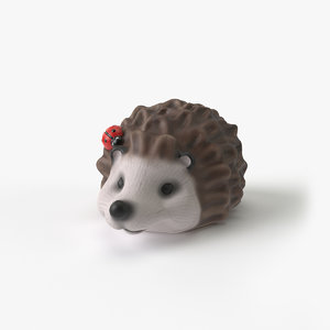 3D model garden hedgehog