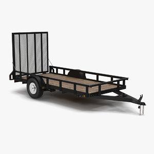 3d model open trailer generic