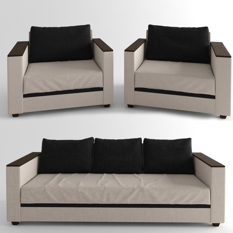 3D sofa cassina